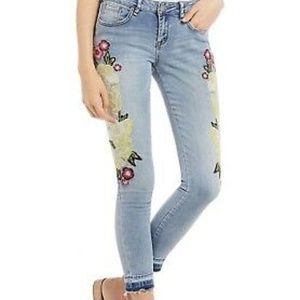 WILLIAM RAST Embroidered Skinny Jeans Size 30 NWT